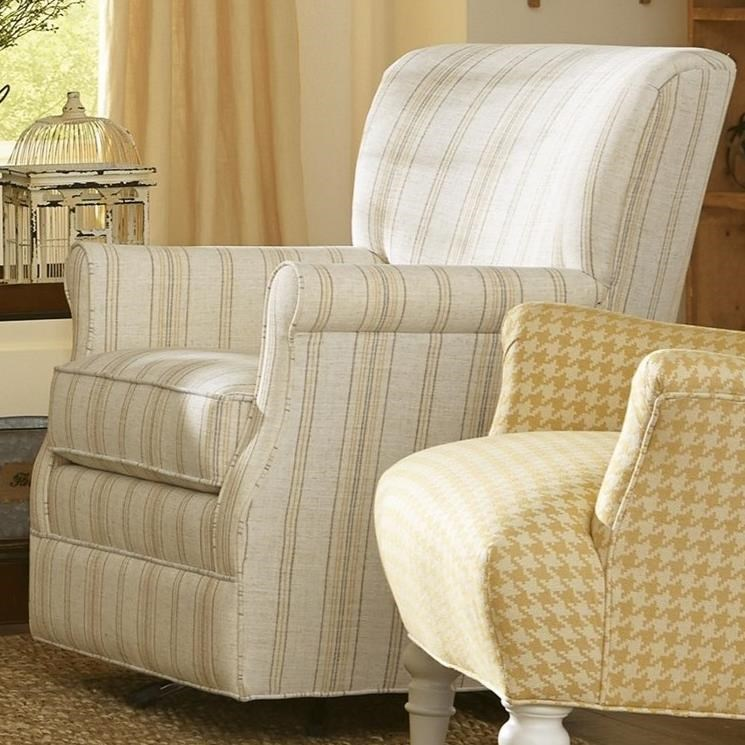 075110 Swivel Glider Chair by Craftmaster at Lagniappe Home Store