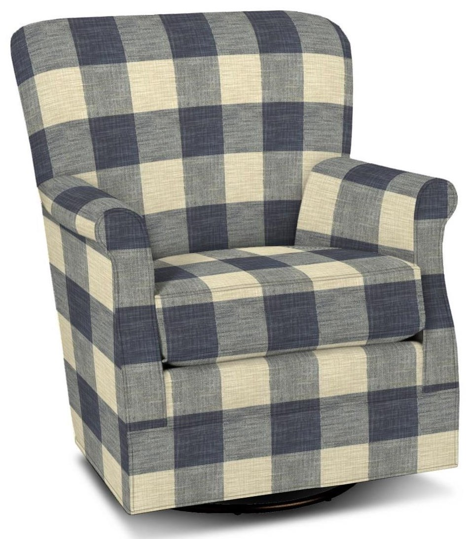 075110 Swivel Glider Chair by Hickory Craft at Godby Home Furnishings