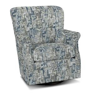 Swivel Chair with Classic Rolled Arms