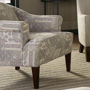 Transitional Accent Chair with Tall Rolled Arms