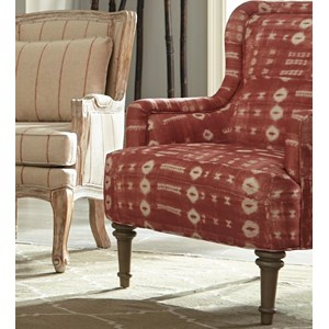Traditional Barrel Back Accent Chair