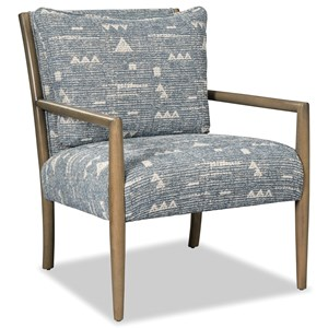 Contemporary Accent Chair with Exposed Wood Frame