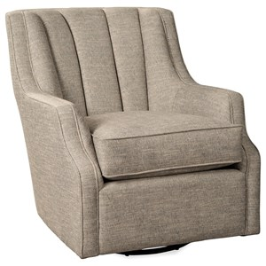 Transitional Glider Chair with Channeled Back Detail
