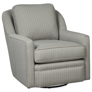 Casual Swivel Glider Chair with Loose Pillow Back