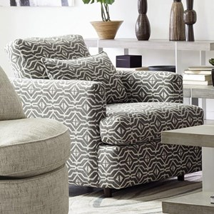 Contemporary Accent Chair with Tall Track Arms