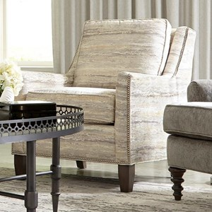 Transitional Chair with Small Nailheads