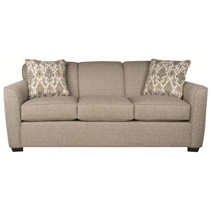 Casual Sofa with Modern Styling and Accent Pillows