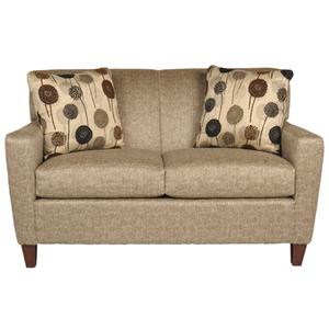 Contemporary Loveseat with Decorative Accent Pillows