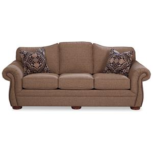 Camelback Sofa with Small Dark Brass Nails