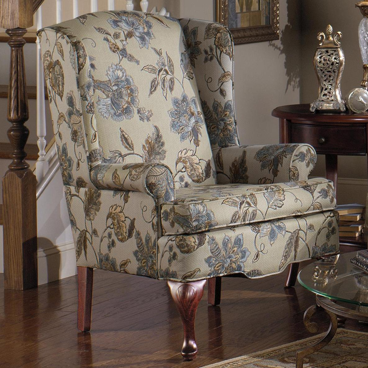 375  Upholstered Wing Chair by Craftmaster at Esprit Decor Home Furnishings