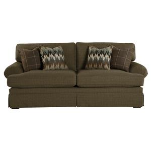 Casual Upholstered Stationary Sofa