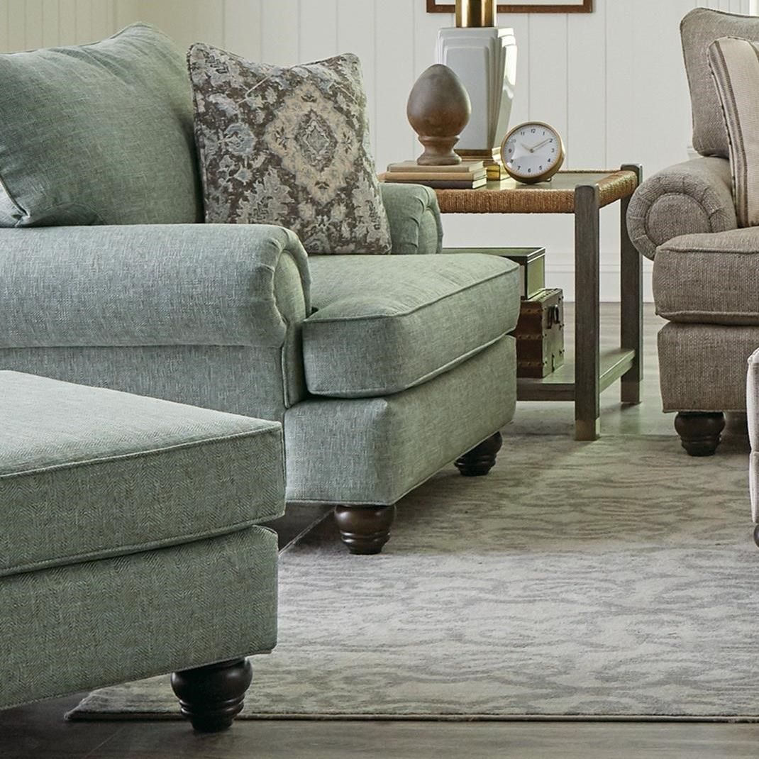 700450 Chair & Ottoman by Craftmaster at Lindy's Furniture Company