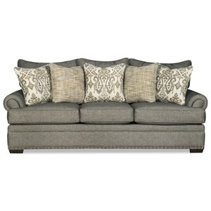 Transitional Sofa with Large and Medium Nailhead Studs