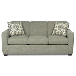 Contemporary Sleeper Sofa with Flared Track Arms