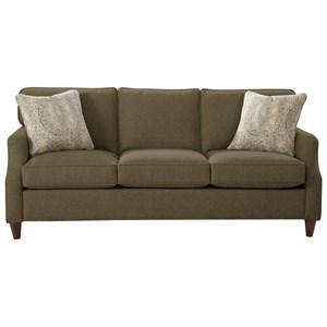 Transitional Sofa with Flair Tapered Arms