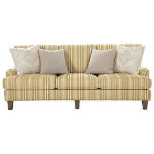 Transitional English-Arm Sofa with Vintage Tack Trim