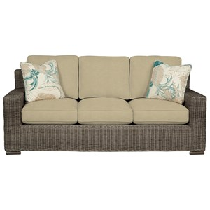 Cozy Life 750700 Wicker-Framed Sofa w/ Sleeper