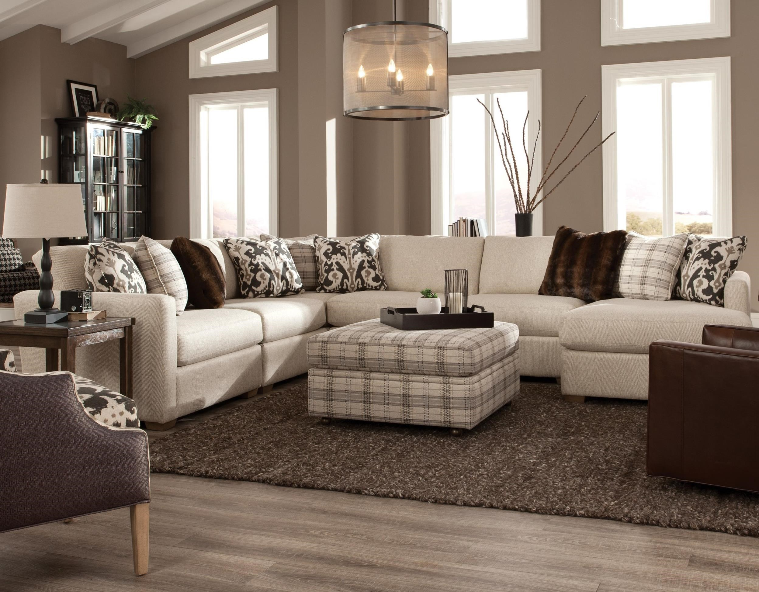 751100 5 Pc Sectional w/ RAF Chaise by Craftmaster at Esprit Decor Home Furnishings