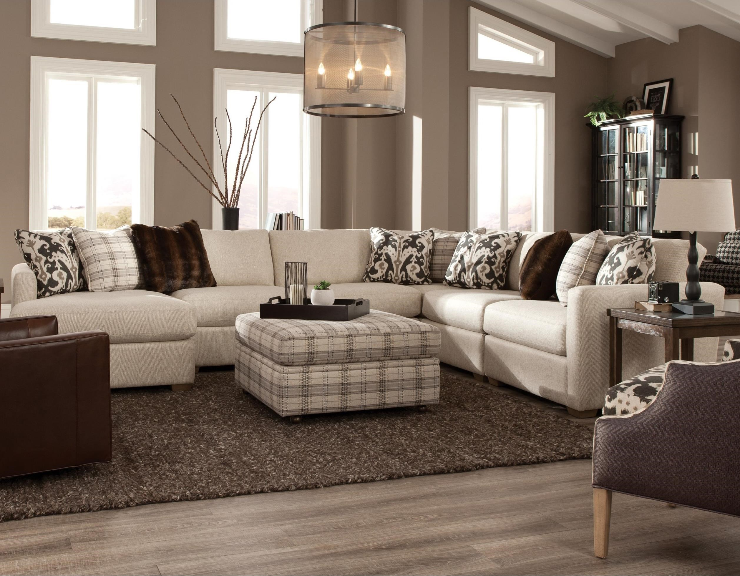 751100 5 Pc Sectional w/ LAF Chaise by Craftmaster at Jacksonville Furniture Mart