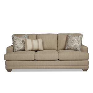 Traditional Sofa with Track Arms