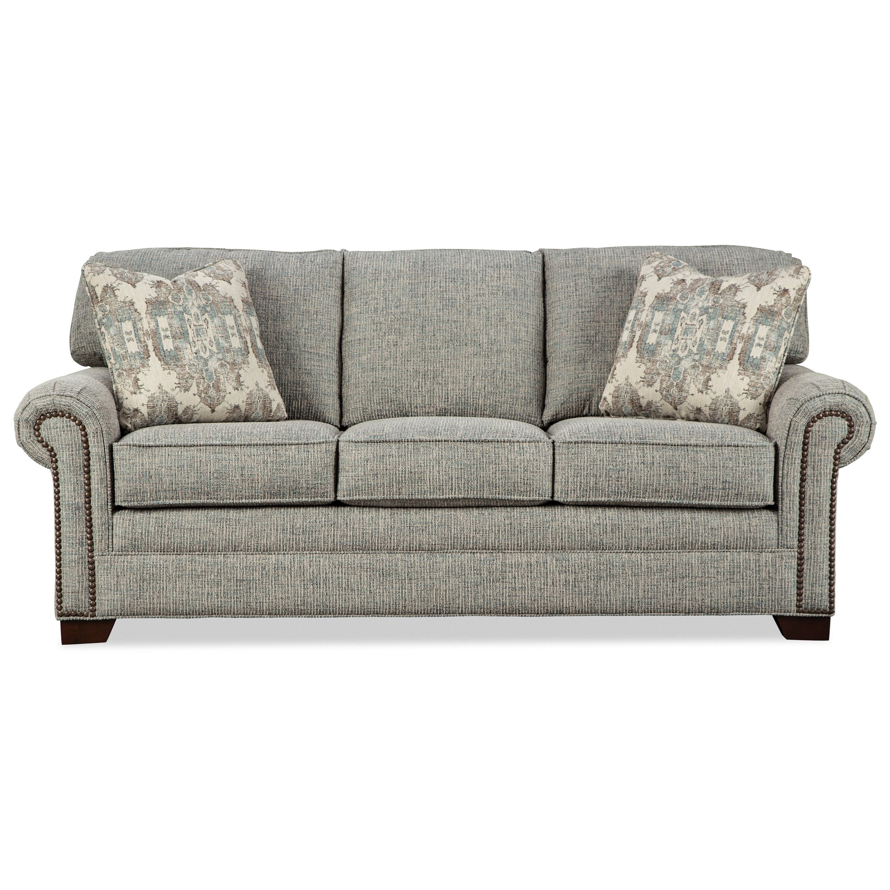 7565 Queen Sleeper Sofa with Memory Foam Mattress by Craftmaster at Jacksonville Furniture Mart