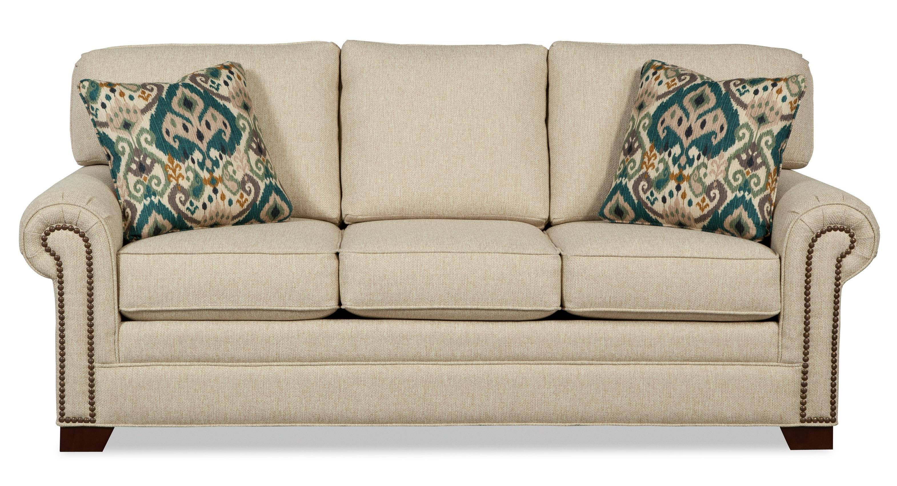 7565 Queen Sleeper Sofa with Memory Foam Mattress by Craftmaster at Story & Lee Furniture