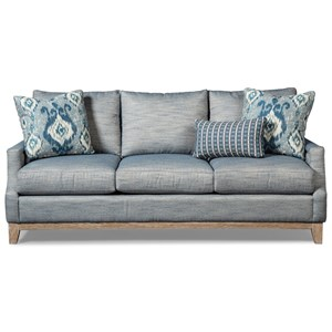 Vintage Sofa with Weathered Oak Rail and Pewter Nails