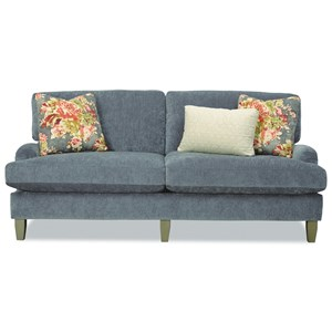 Two Seat Apartment-Size Sofa with English Arms