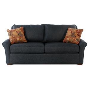 Transitional Queen Sleeper Sofa w/ Innerspring Mattress & Revolution Performance Fabric