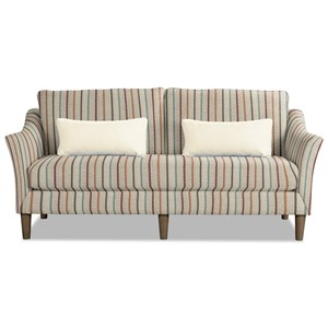 Contemporary Sofa with Flared Arms and Bench Seat