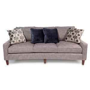Casual Sofa with Curved Front Rail