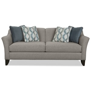 Contemporary Sofa with Tall Flared Arms