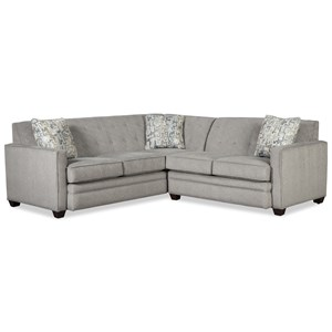 Contemporary Two Piece Tufted Sectional Sofa with LAF Return Sofa