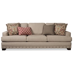 "Large 100"" Sofa with Deep Seats and Nailhead Border"