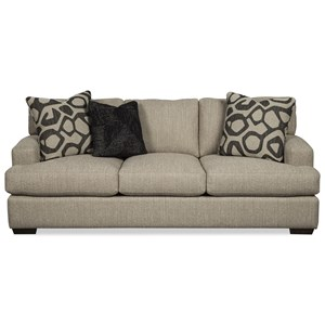 Contemporary Sofa with Wide Rounded Track Arms
