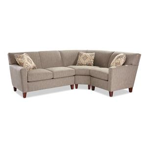 Craftmaster 7864 3 Pc Sectional Sofa w/ LAF Loveseat
