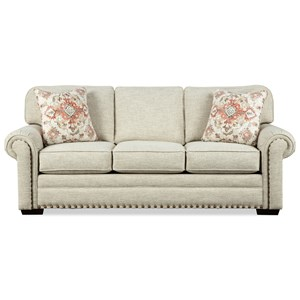 Traditional Sofa Sleeper with Memory Foam Mattress