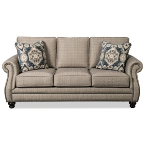 Traditional Sofa with Nailhead Studs