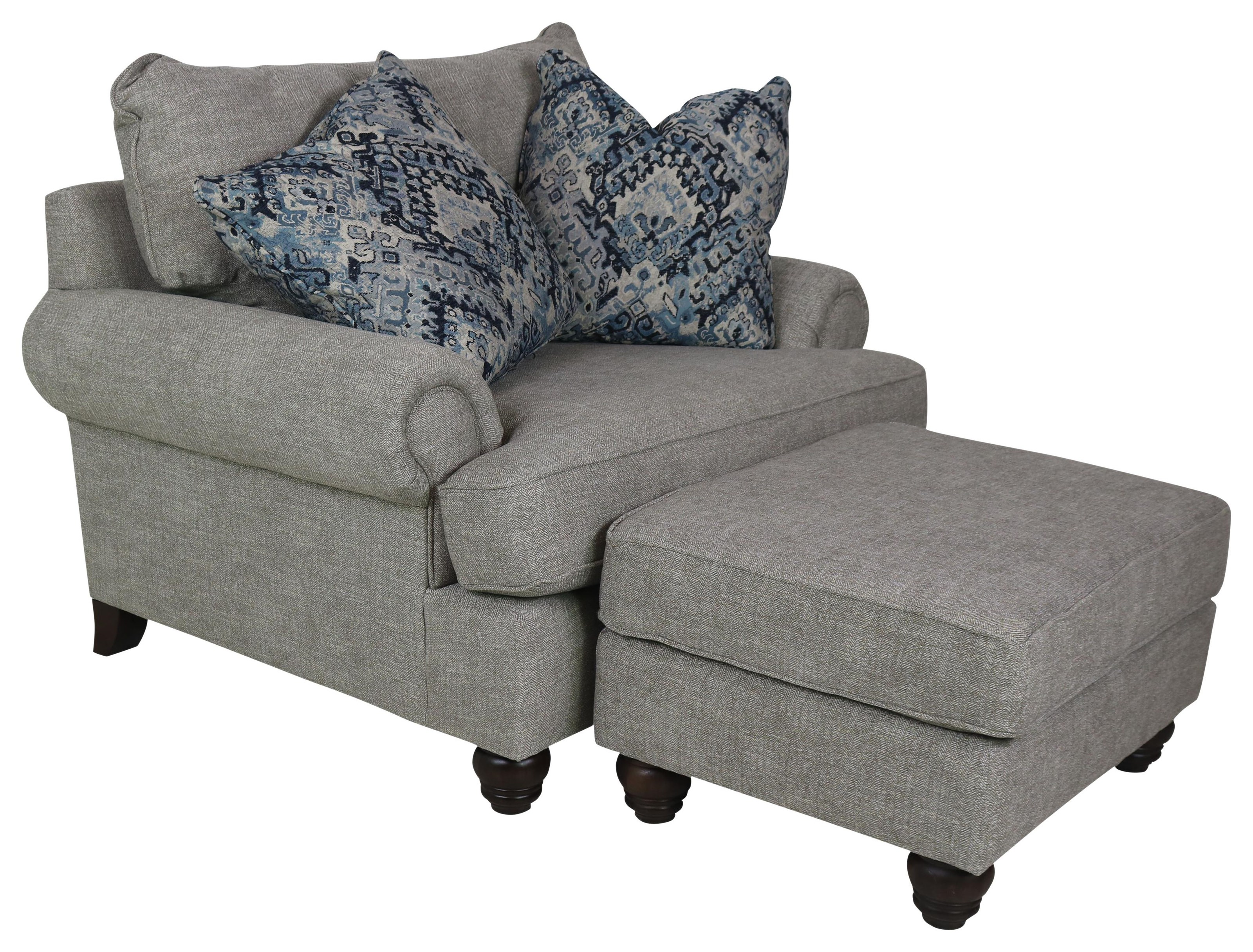797050BD Chair & Half with Ottoman by Cozi Life Upholstery at Sprintz Furniture