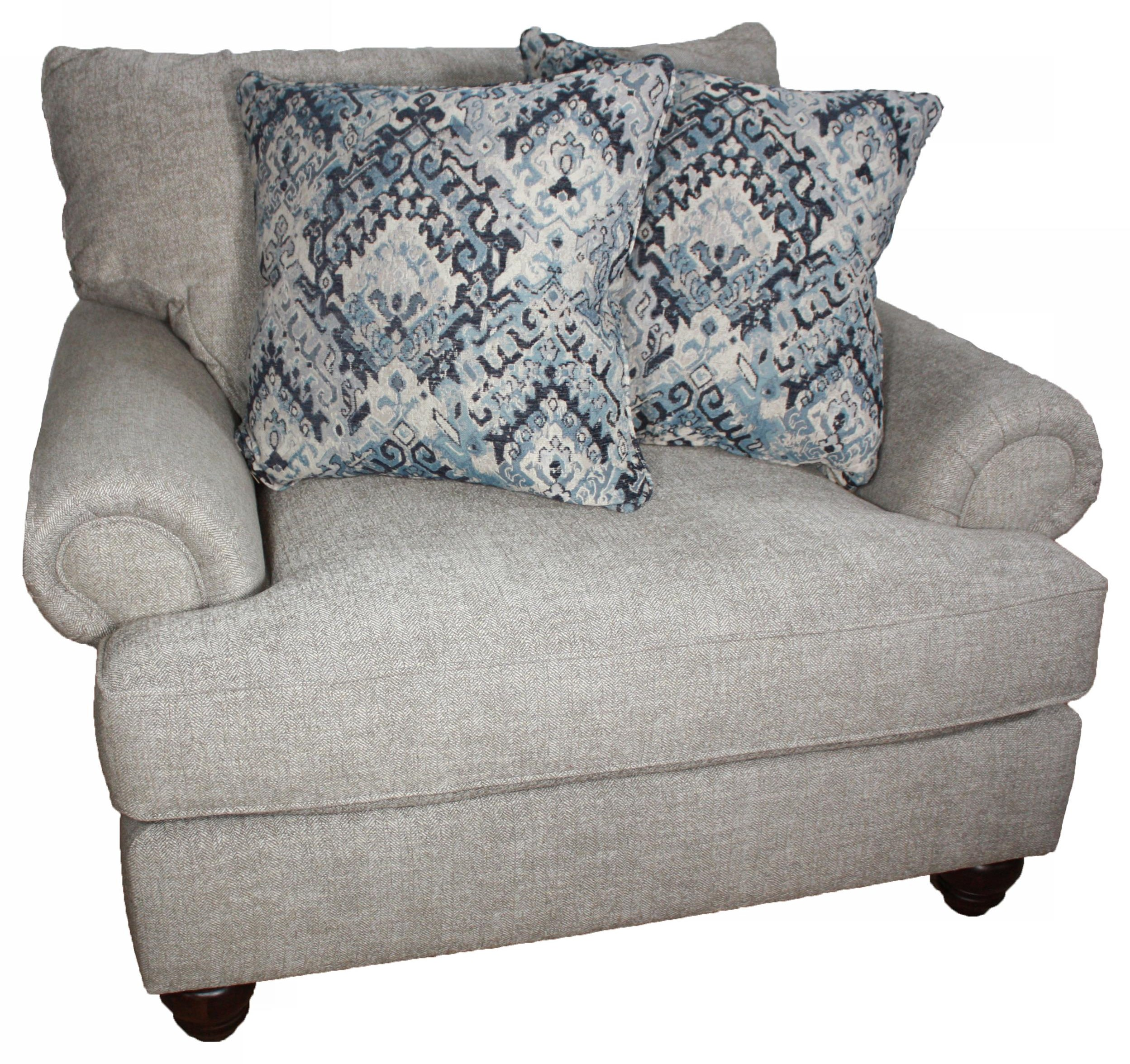 7970 CHAIR AND A HALF by Craftmaster at Esprit Decor Home Furnishings