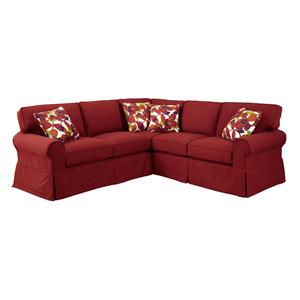 Craftmaster 922850 2 Pc Sectional Sofa with RAF Return Sofa