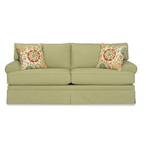 Casual Skirted Sofa with Rolled Arms