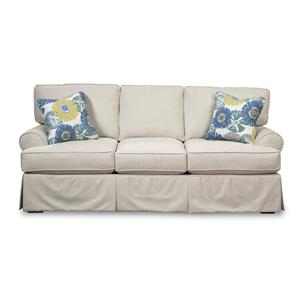 Skirted Sofa with Faux Slipcover Look