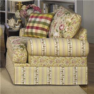 Skirted Chair with Flared Arms