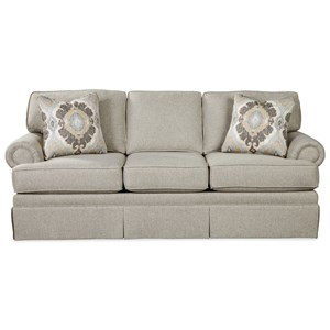 Traditional Skirted Sofa