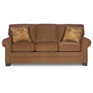 Transitional Three-Seater Sofa with Rolled Arms