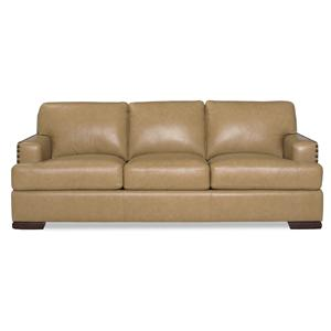 Contemporary Sofa with Nailhead-Studded Track Arms