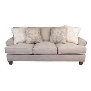 Paula Deen Plush Sofa with Accent Pillows