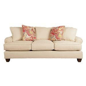 Paula Deen Plush Sofa with Accent Pillows