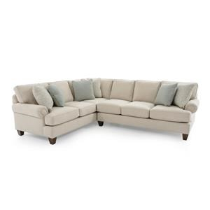 Two Piece Customizable Sectional Sofa with LAF Corner Sofa